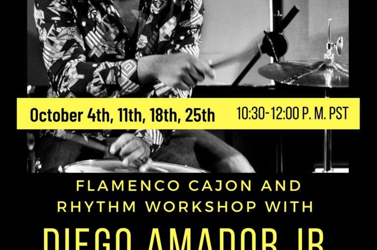 Taller de cajón flamenco y ritmo con Diego Amador Jr.