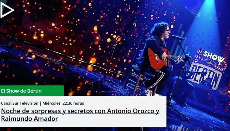 """La voz de Antonio Orozco conquista """"El Show de Bertín"""""""