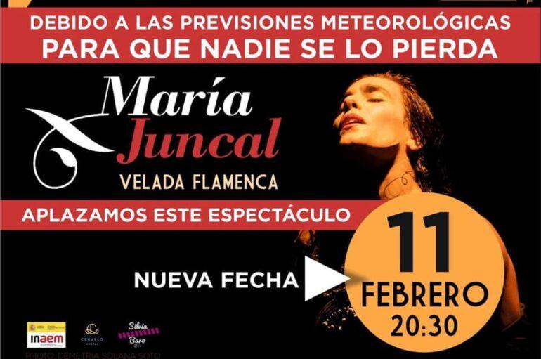 María Juncal 'Velada Flamenca' en Madrid – NUEVA FECHA – Streaming Live 11 de febrero!
