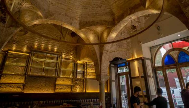 Twelfth-century bathhouse uncovered in Spanish bar