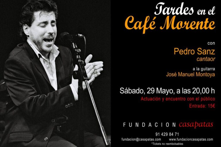 Pedro Sanz, cantaor con Jose Manuel Montoya a la guitarra