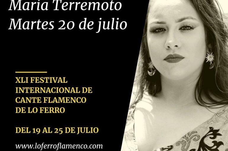 XLI Festival Internacional de Cante Flamenco de Lo Ferro con María Terremoto