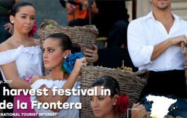 Grape harvest festival in Jerez de la Frontera, Spain