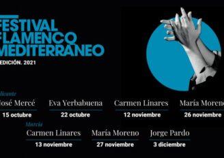 José Mercé, Carmen Linares, Eva Yerbabuena y María Moreno en el V Festival Flamenco Mediterráneo de 2021